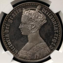 GREAT BRITAIN Victoria ヴィクトリア(1837~1901) Crown 1847 NGC-PF65 Cameo Proof UNC~FDC
