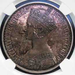 GREAT BRITAIN Victoria ヴィクトリア(1837~1901) Crown 1853 NGC-PF63