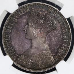 GREAT BRITAIN Victoria ヴィクトリア(1837~1901) Crown 1847 NGC-PF65