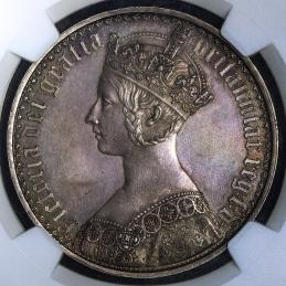 GREAT BRITAIN Victoria ヴィクトリア(1837~1901) Crown 1847 NGC-PF62