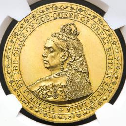 GREAT BRITAIN Victoria ヴィクトリア(1837~1901) Pattern Crown in Gold 1887 NGC-PF63 Ultra Cameo
