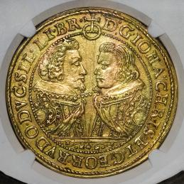 "GERMANY Silesia-Liegnitz-Brieg シレジア・リーグニッツ・ブリエグ 20Ducat 1617 NGC-AU Details""Obv Scratched"""