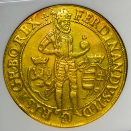 HOUSE OF HABSBURG Ferdinand II フェルディナンド2世(1619~37) 10Ducats 1625 NGC-XF45