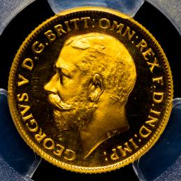 GREAT BRITAIN George V ジョージ5世(1910~36) 1/2Sovereign 1911 PCGS-PR67 CAM Proof FDC