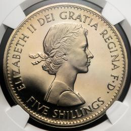 GREAT BRITAIN Elizabeth II エリザベス2世(1952~) Crown 1960  NGC-PF67 Cameo Proof FDC