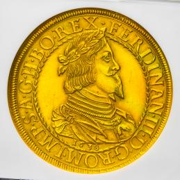 "HOUSE OF HABSBURG  Ferdinand III フェルディナンド3世(1637~57) 10Ducat 1638 NGC-UNC Details""Cleaned"""