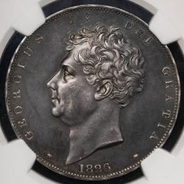 GREAT BRITAIN George IV ジョージ4世(1820~30) Pattern Crown 1826LVIII NGC-PF61